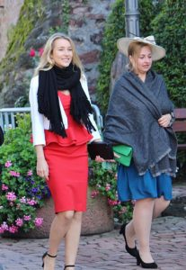 Princess Cecilia of Leiningen with her sister Princess Theresa in 2017
