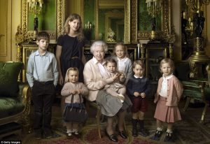Queen and Grandchildren