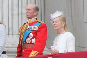 The Duke and Duchess of Kent on the balcony of Buckingham Palace at the 2013 Trooping the Colour