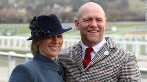 Zara and Mike Tindall during day three of the Cheltenham Festival at Cheltenham Racecourse in 2020